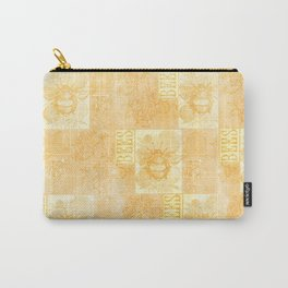Bees and Blooms VII:  Watercolor illustrated bee and flower print Carry-All Pouch