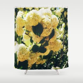 Yellow Snowballs Shower Curtain