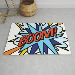 Comic Book Pop Art BOOM Rug
