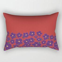 Field of African Violets Rectangular Pillow