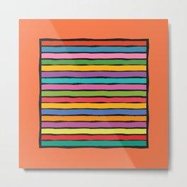 dp203-2B Colorful Stripes Metal Print