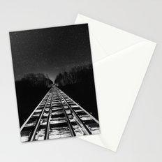 Vanishing Night Rails Stationery Cards