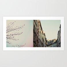 Pastel Paris Diptych Art Print