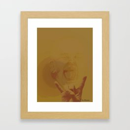 Rocking baby Framed Art Print