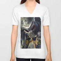 predator V-neck T-shirts featuring Predator by Patricia Lull