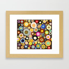 The incident - Circles pale vintage cross Framed Art Print
