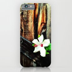 Old wood and a flower. Slim Case iPhone 6s