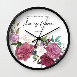 She is Fierce (White) Wall Clock