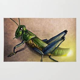 The Firefly and the Grasshopper Rug