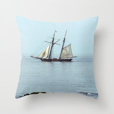 Sailing back in time Throw Pillow