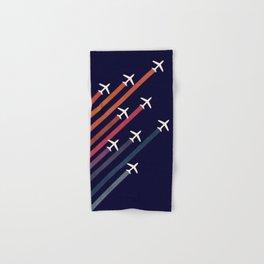 Aerial acrobat Hand & Bath Towel