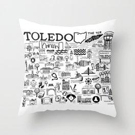 Toledo Ohio Throw Pillow