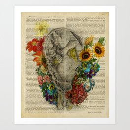 Pregnancy anatomy, Baby Shower Decor, Floral Fetus in Womb, Pregnant Woman Gift, Obstetrician Gift Art Print