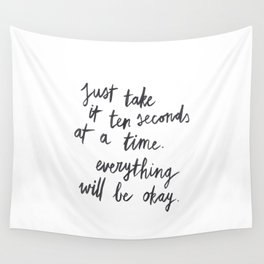 Ten Seconds At A Time Wall Tapestry