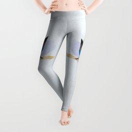 Steller's jay watercolor Leggings
