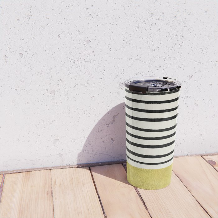 Gold x Stripes Travel Mug