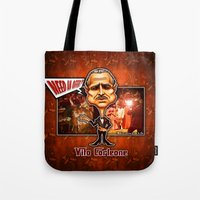 the godfather Tote Bags featuring The Godfather concept! by Emanpris Artcore