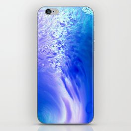 Blue Splash Abstract iPhone Skin