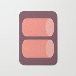 Cylinder Burgundy Pink 02 Bath Mat