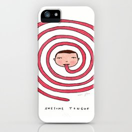 Awesome tongue iPhone Case