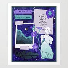 Aquarius II Art Print