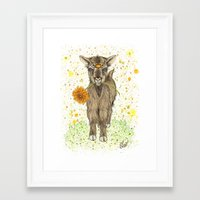 goat Framed Art Prints featuring Goat by Nikki Laxar
