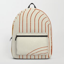 Golden Sun Arch Midcentury Backpack