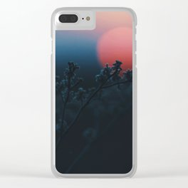 Resting Sun Clear iPhone Case