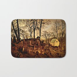 Old Cemetery at Night Bath Mat