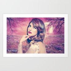 Noite rosa Art Print