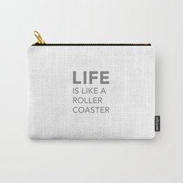 LIFE white Carry-All Pouch