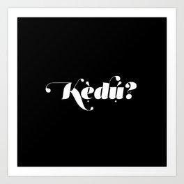 Kedu Art Print