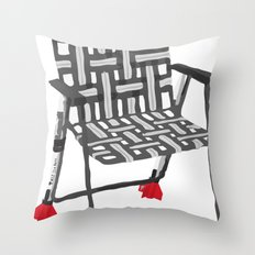 rocket launcher (rocket lawnchair). Throw Pillow
