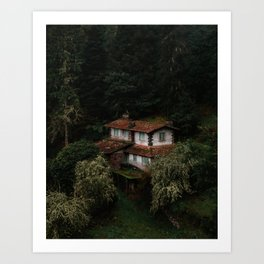 Mysterious Forest House – Landscape Photography Art Print