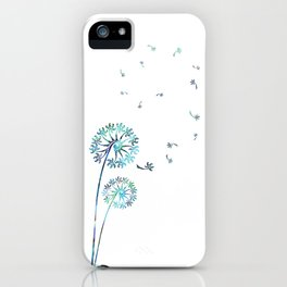 Dandelion Paua White iPhone Case