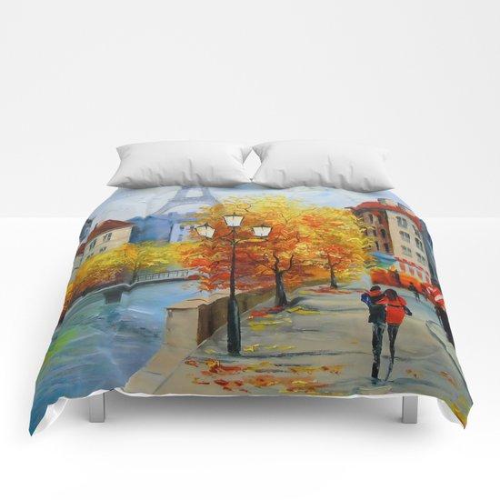 Autumn in Paris Comforters