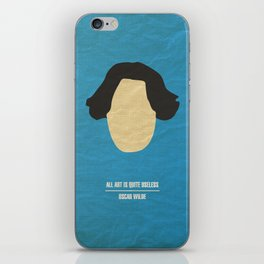"Oscar Wilde - ""All art is quite useless"" iPhone Skin"
