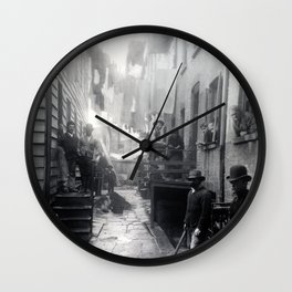 Jacob Riis Bandit's Roost Wall Clock