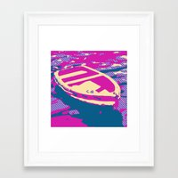 boat Framed Art Prints featuring Boat by DistinctyDesign