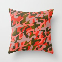 Coral Camouflage 2 Throw Pillow
