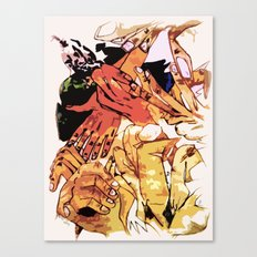 Crack Of Hands Canvas Print
