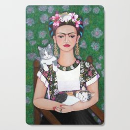 Frida cat lover Cutting Board