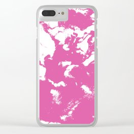 Marble pink 1 Suminagashi watercolor pattern art pisces water wave ocean minimal design Clear iPhone Case