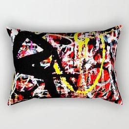 Wall of Graffiti Rectangular Pillow