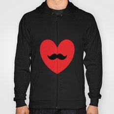 Mustache heart Hoody