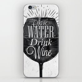 Vintage wine iPhone Skin