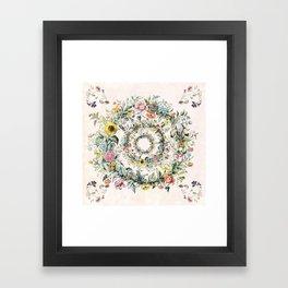 Circle of life- floral Framed Art Print