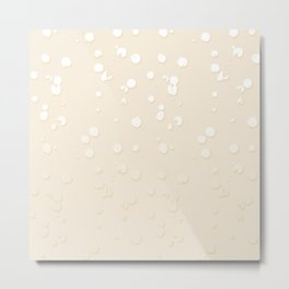 Bisque Gradient Spots Metal Print