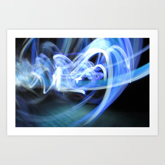(Mostly) Blue Light Painting Art Print