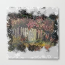 Darkness creeps into the Mystic Forest Metal Print